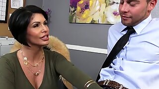 Sensational Shay Fox gives the best blowjob she can