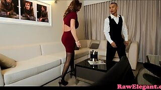 Glamcore MILF hooker squirting while fucking