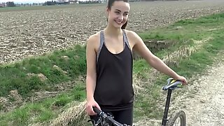 After ridding a bike a public sex