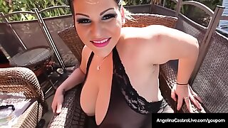 Cuban Queen Angelina Castro Bangs Her Backdoor & Cums Hard!