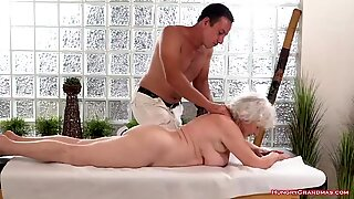 Ugly grayhaired granny gets fucked